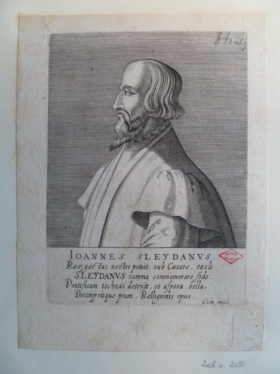 HONDIUS Hendrick (graveur), HONDIUS le Vieux (dit) : Portrait de Jean Sleidan ou Johannes Sleydanus