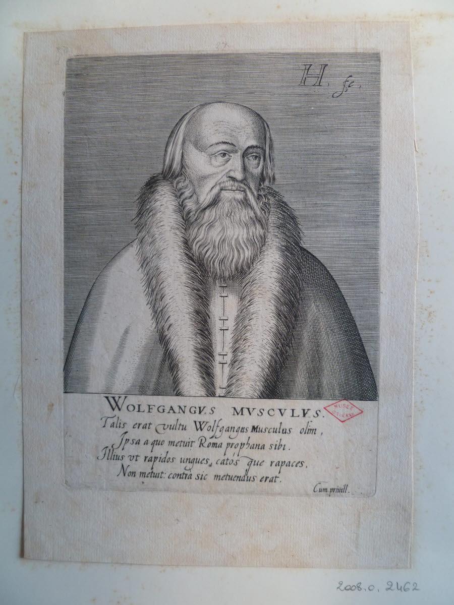 HONDIUS Hendrick (graveur), HONDIUS le Vieux (dit) : Portrait de Wolfgang Musculus