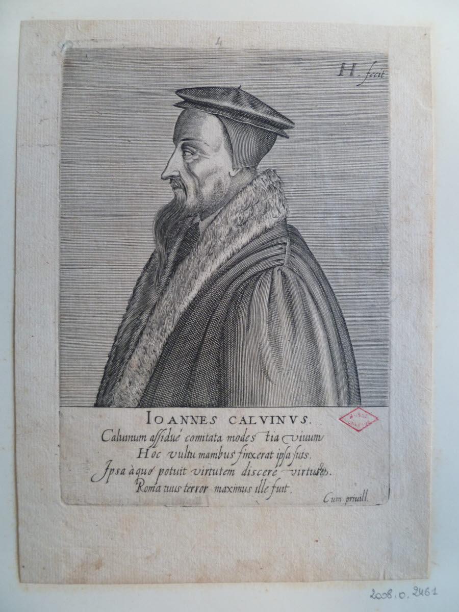HONDIUS Hendrick (graveur), HONDIUS le Vieux (dit) : Portrait de Jean Calvin