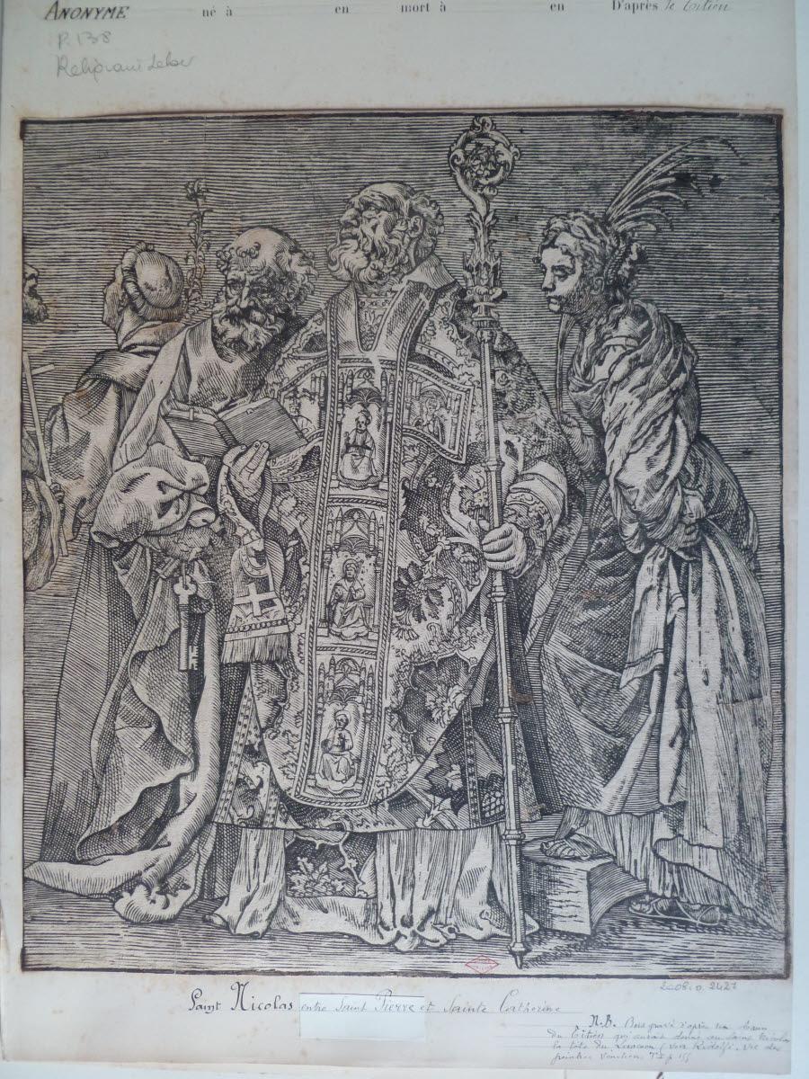 Saint Nicolas, saint Pierre et sainte Catherine_0
