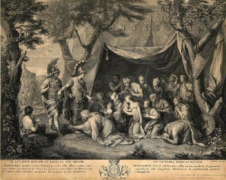 AUDRAN Jean (graveur), LE BRUN Charles (d'après, peintre) : Les reines de Perse aux pieds d'Alexandre
