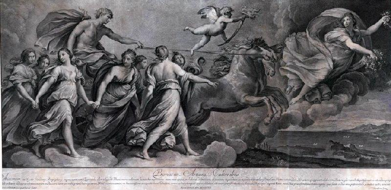 Phébus avance sur son char entouré des Heures et précédé par l'Aurore_0