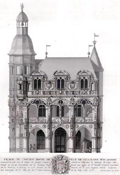 Façade de l'ancien hôtel de ville de Châlons-sur-Marne