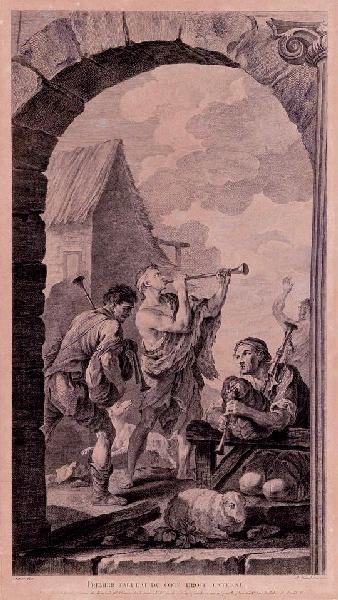 Musiciens jouant de la cornemuse et du hautbois_0