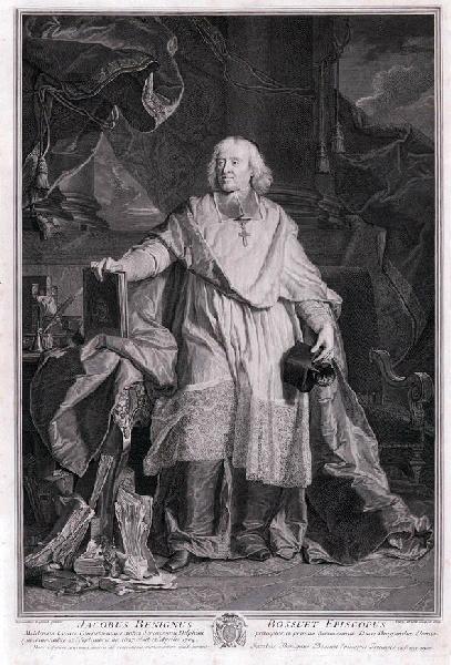 DREVET Pierre Imbert (graveur), RIGAUD Hyacinthe (d'après, peintre) : Portrait de Jacques Bénigne Bossuet