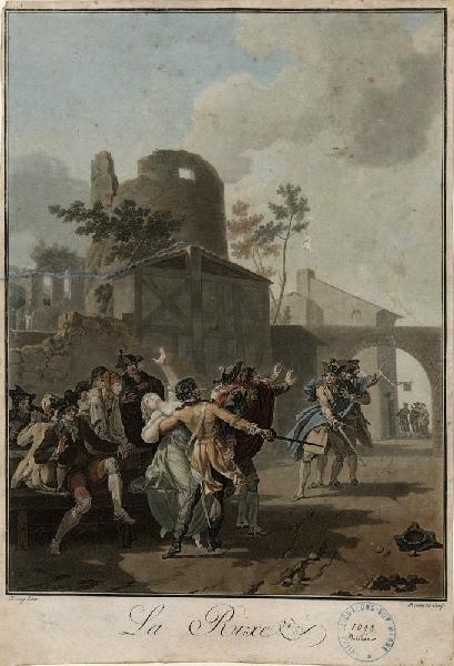 DESCOURTIS Charles Melchior (graveur), TAUNAY Nicolas Antoine (d'après, peintre) : La rixe