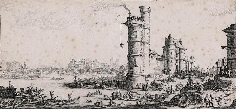 Vue du Pont Neuf, de la Tour et de l'ancienne Porte de Nesle_0