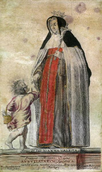 NATALIS Michael (graveur), VAN DIEPENBEECK Abraham (d'après, peintre), VAN DEN ENDEN Martinus (imprimeur) : Portrait de Jeanne de Valois