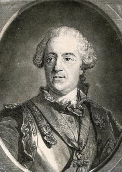 BONNET Louis Marin (graveur), VAN LOO Louis Michel (d'après, peintre) : Portrait de Louis XV