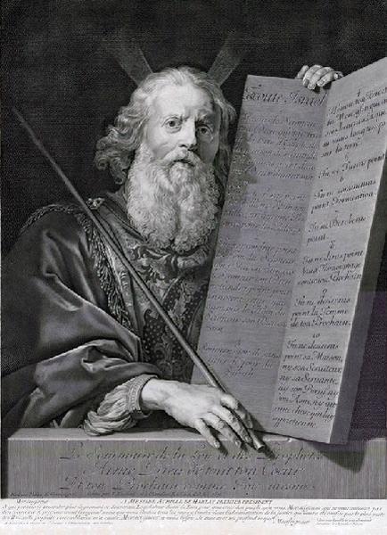 EDELINCK Gérard (graveur), NANTEUIL Robert (graveur), CHAMPAIGNE Philippe de (d'après, peintre) : Moïse