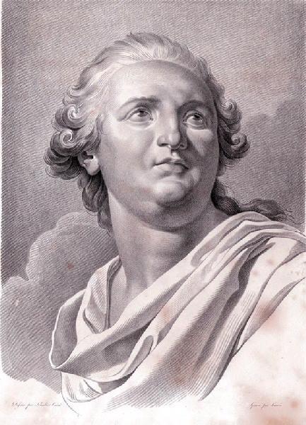 CARRE Antoine (graveur), LE BARBIER Jean Jacques François (d'après), LE BARBIER l'Aîné (dit) : Portrait de Louis XVI