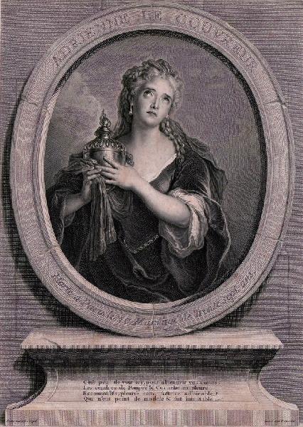 DREVET Pierre Imbert (graveur), COYPEL Charles Antoine (d'après, peintre) : Portrait d'Adrienne Lecouvreur en Cornélie