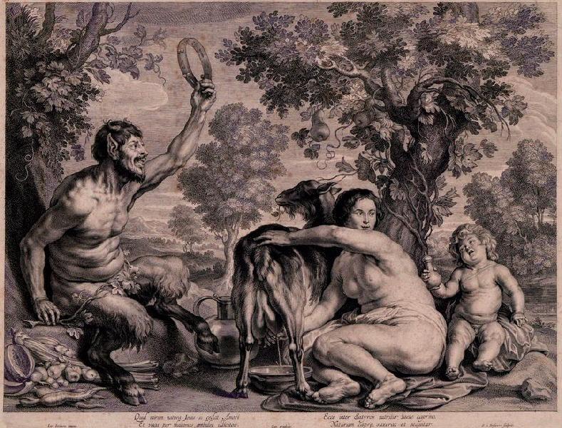 Jupiter enfant nourri par la chèvre Amalthée ; L'enfance de Jupiter_0