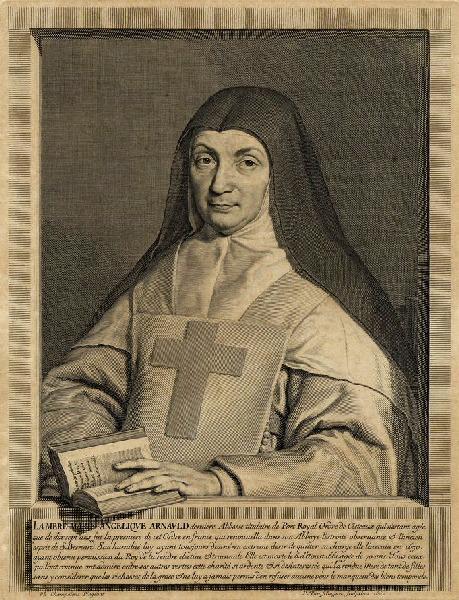 VAN SCHUPPEN Pierre Louis (graveur), CHAMPAIGNE Philippe de (d'après, peintre) : Portrait de Jacqueline Marie Angélique Arnauld, abbesse de Port-Royal