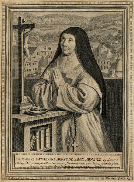 BOULANGER Jean (graveur), CHAMPAIGNE Philippe de (d'après, peintre) : Portrait de mère Catherine Agnès de Saint Paul Arnauld
