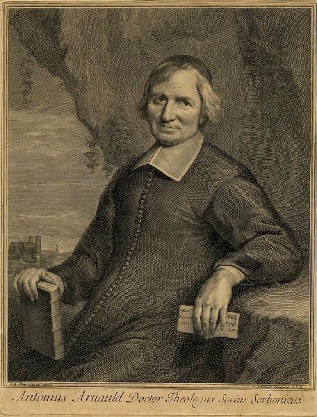 EDELINCK Gérard (graveur), CHAMPAIGNE Jean-Baptiste de (d'après, peintre) : Portrait d'Antoine Arnauld