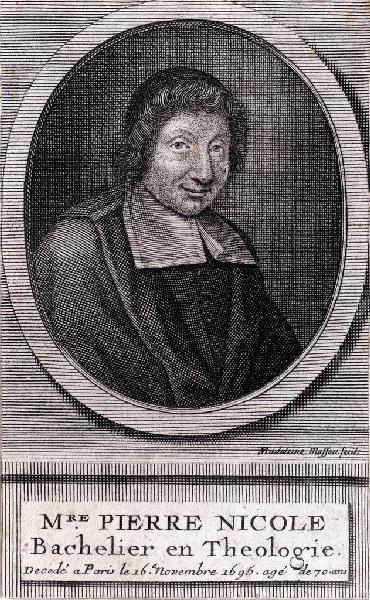 MASSON Madeleine (graveur) : Portrait de Pierre Nicole
