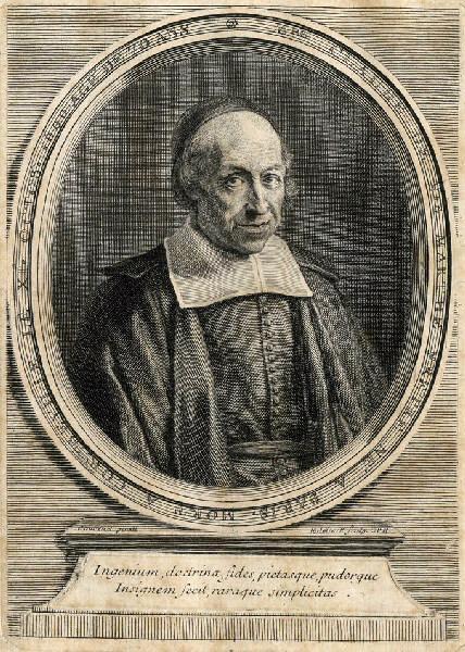 EDELINCK Gérard (graveur), JOUVENET Jean Baptiste (d'après, peintre) : Portrait de Claude de Sainte Marthe