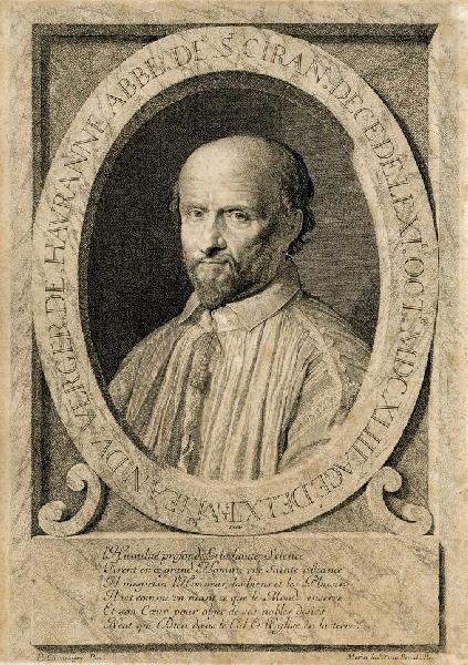 MORIN Jean (graveur), CHAMPAIGNE Philippe de (d'après, peintre) : Portrait de Jean du Verger de Hauranne, abbé de Saint Ciran