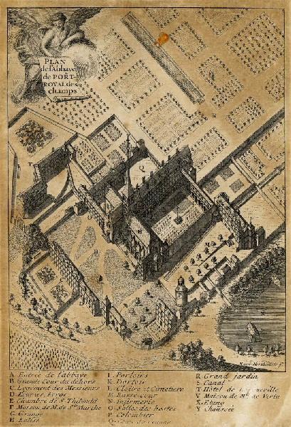 Plan de l'abbaye de Port-Royal des Champs