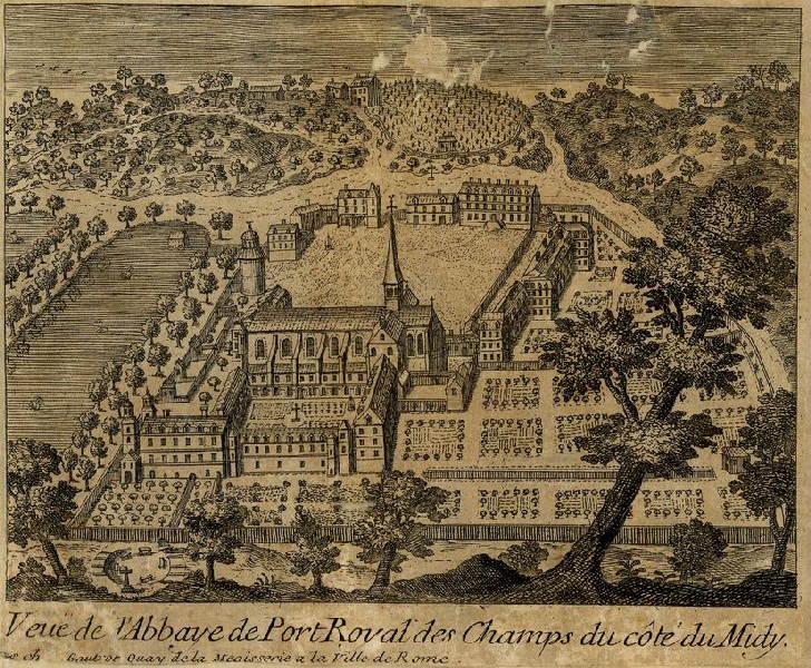 Vue de l'abbaye de Port-Royal des champs
