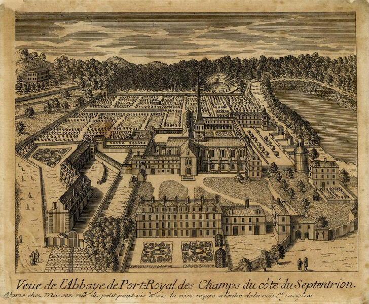 Vue de l'abbaye de Port-Royal des champs du côté du septentrion_0
