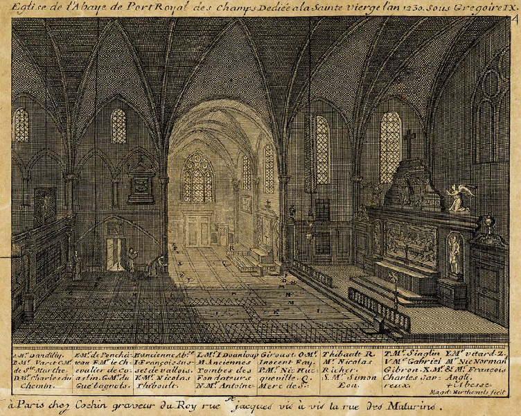 HORTHEMELS Louise Magdeleine (graveur) : Eglise de l'abbaye de Port-Royal des Champs