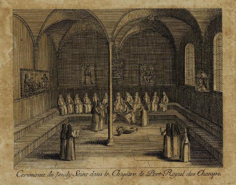Cérémonie du jeudi saint dans le chapitre de Port-Royal des champs