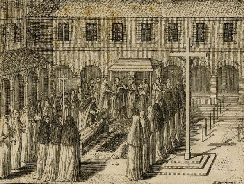 L'enterrement des religieuses de l'abbaye de Port-Royal des Champs_0