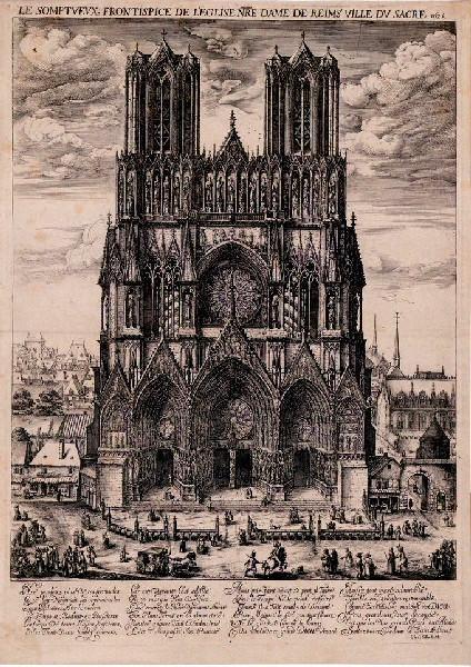 Frontispice de Notre-Dame de Reims