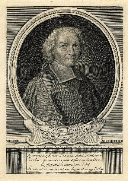 DESROCHERS Stéphane (graveur) : Portrait de Félix III Vialar de Herse, évêque de Châlons-en-Champagne