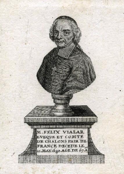 anonyme (graveur) : Portrait de Félix III Vialar de Herse, évêque de Châlons-en-Champagne