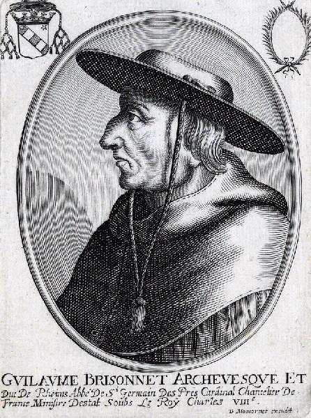 MONTCORNET Balthasar (graveur) : Portrait de Guillaume Brisonnet