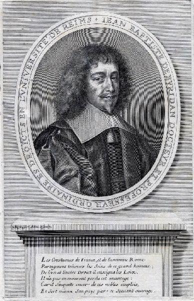 REGNESSON Nicolas (graveur) : Portrait de Jean-Baptiste de Buridan