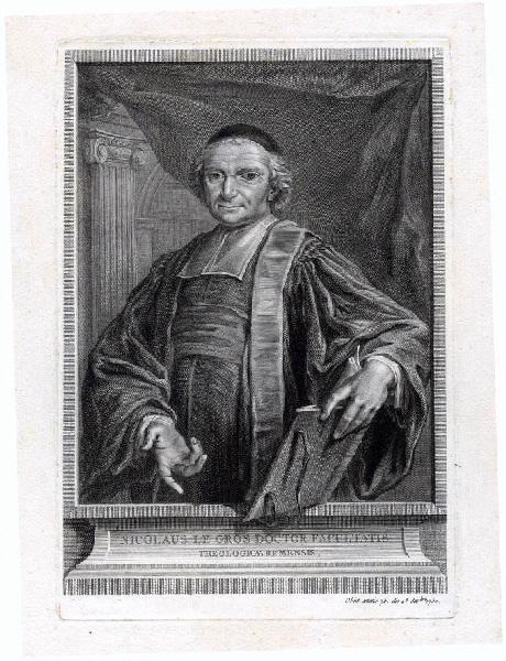 JARDINIER (graveur) : Portrait de Nicolas Le Gros