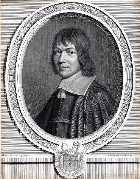 NANTEUIL Robert (graveur) : Portrait de Charles Maurice Le Tellier