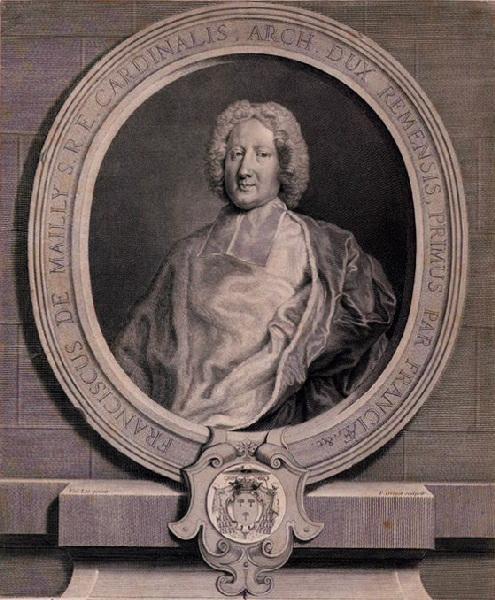 DREVET Pierre Imbert (graveur), VAN LOO Carle (d'après) : Portrait de François de Mailly