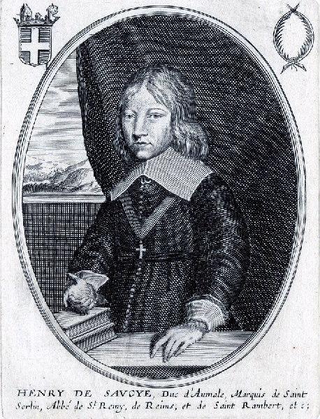 MONTCORNET Balthasar (graveur) : Portrait d'Henri II de Savoye-Nemours