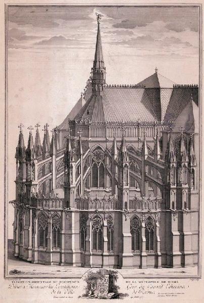 Chevet de la Cathédrale de Reims vu du côté nord_0