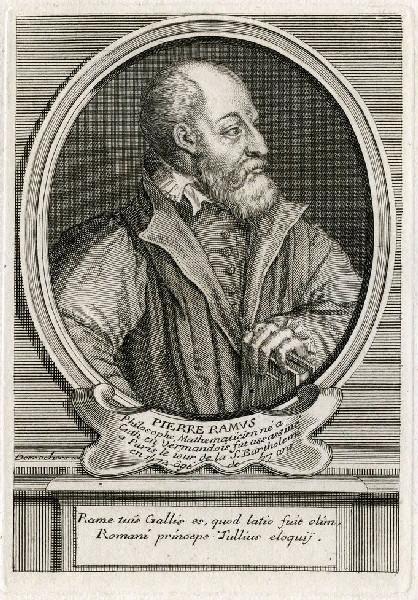 DESROCHERS Stéphane (graveur) : Portrait de Pierre de La Ramée, dit Ramus