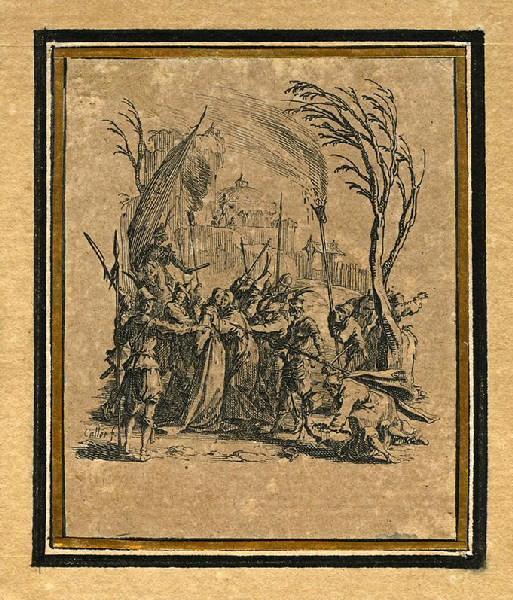CALLOT Jacques (graveur) : La Passion de Notre Seigneur (04), Il est livré aux juifs