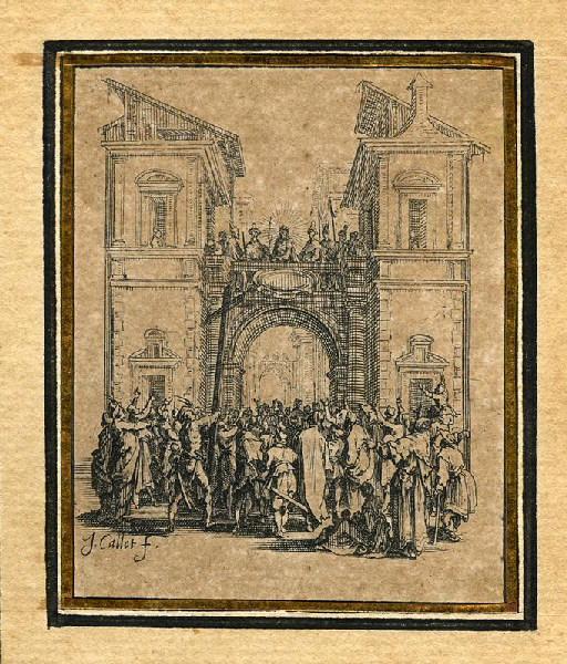 CALLOT Jacques (graveur) : La Passion de Notre Seigneur (09), Il est présenté au peuple