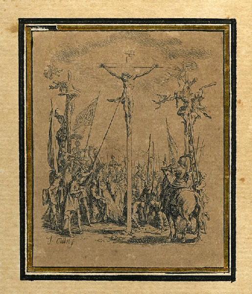 CALLOT Jacques (graveur) : La Passion de Notre Seigneur (12), Il est percé d'une lance