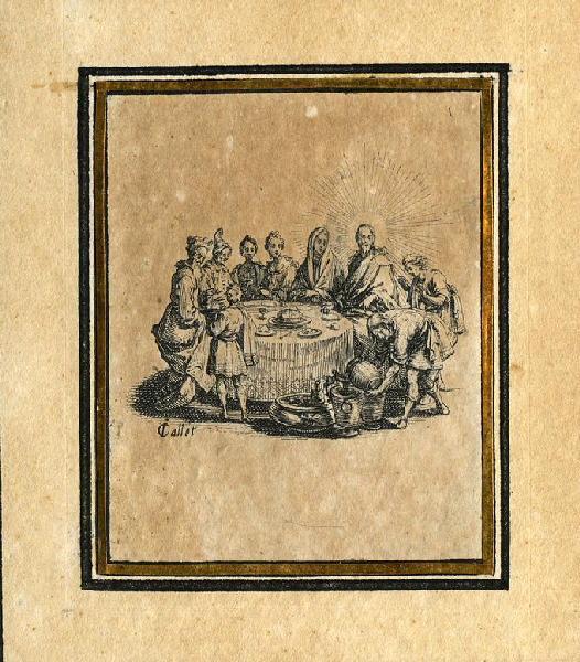 CALLOT Jacques (graveur) : Les quatre banquets (01) : Les noces de Cana