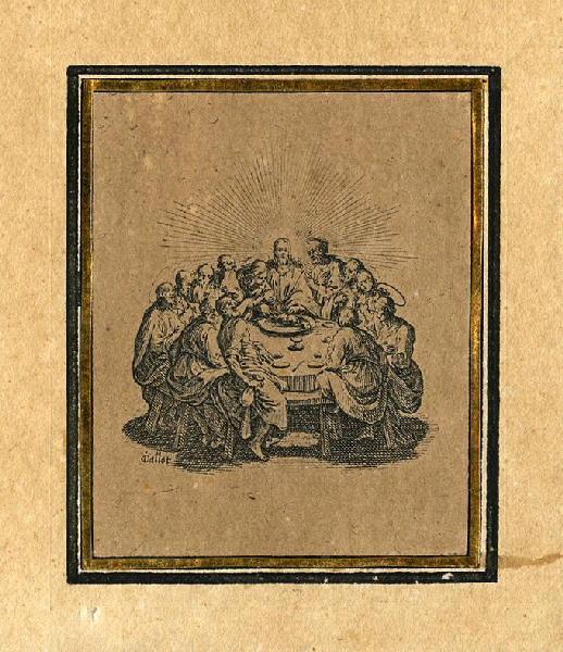 CALLOT Jacques (graveur) : Les quatre banquets (03), La Cène