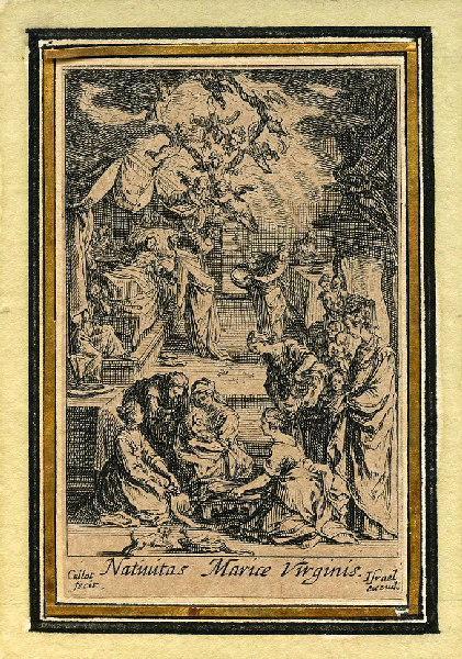 CALLOT Jacques (graveur), HENRIET Israël (graveur) : Vie de la sainte Vierge (02), Naissance de la sainte Vierge