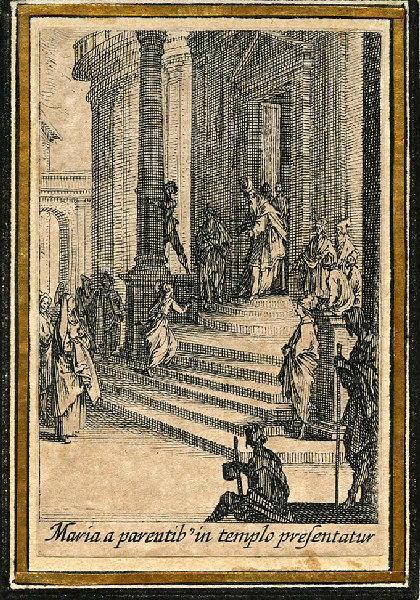 CALLOT Jacques (graveur), HENRIET Israël (graveur) : Vie de la sainte Vierge (03), Présentation de la Vierge au Temple