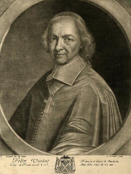 LOMBART L (graveur), NANTEUIL Robert (d'après) : Portrait de Félix III Vialar de Herse, évêque de Châlons-en-Champagne