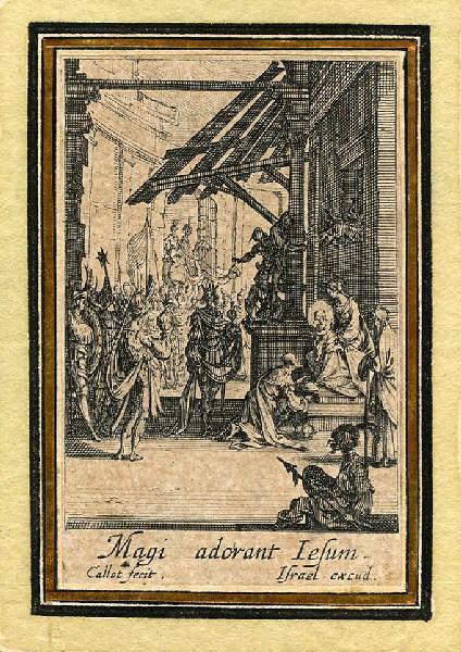 CALLOT Jacques (graveur), HENRIET Israël (graveur) : Vie de la sainte Vierge (09), L'adoration des mages