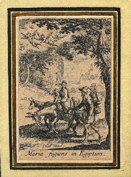 CALLOT Jacques (graveur), HENRIET Israël (graveur) : Vie de la sainte Vierge (11), Fuite de la Vierge en Egypte